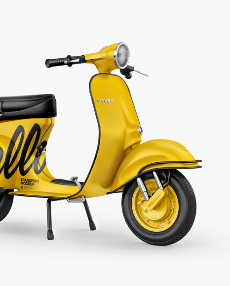 Download Vespa Scooter Mockup - Half Side View Object Mockups