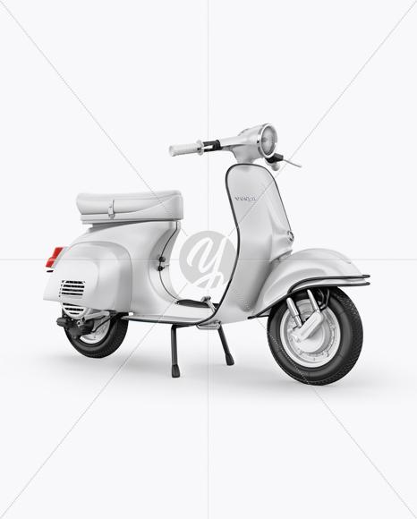 Vespa Scooter Mockup - Half Side View