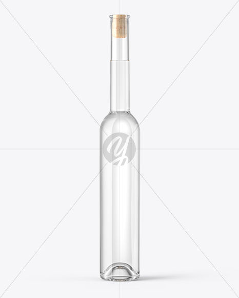 Download Clear Glass Pink Wine Bottle With Cork Mockup PSD - Free PSD Mockup Templates