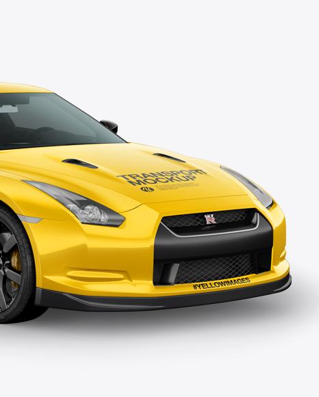 Download Nissan GTR Mockup - Half Side view Object Mockups