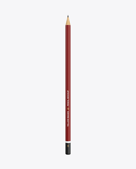 Round Pencil Mockup - Top View