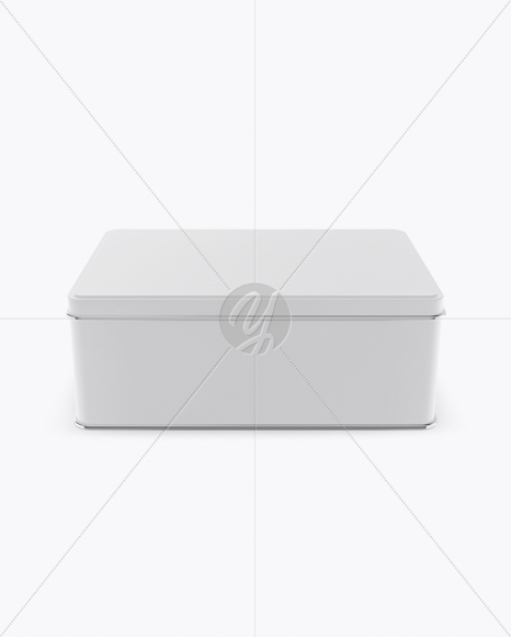 Matte Tin Box Mockup (High-Angle Shot)
