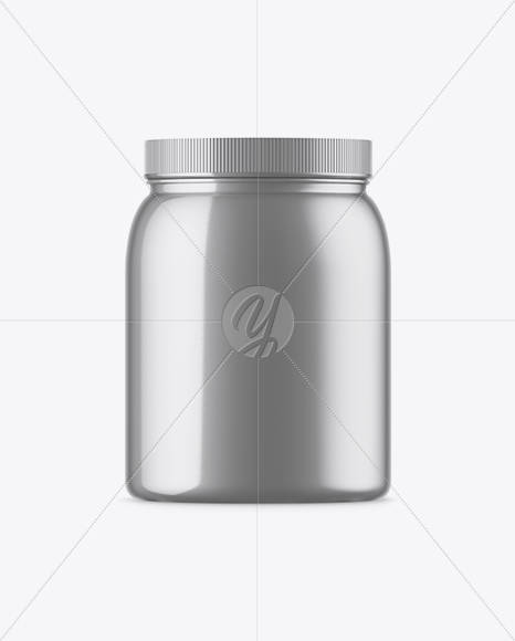 Glass Jar With Solid Coconut Oil Mockup