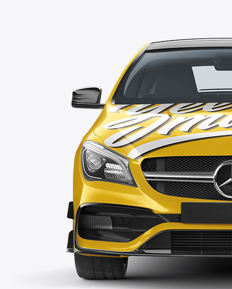 Download Mercedes CLA 45 AMG Mockup - Front View Object Mockups