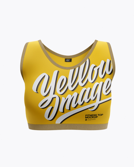 Download Women's Fitness Top Mockup - Front View Object Mockups
