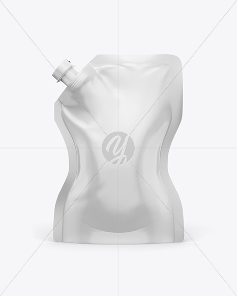 Glossy Transparent Stand Up Pouch Curry Sauce Mockup