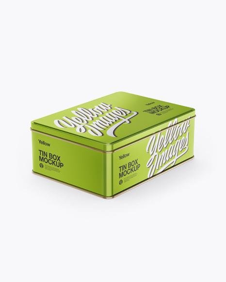 Download Matte Tin Box Mockup Half Side View PSD - Free PSD Mockup Templates