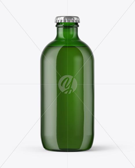 Download 180ml Green Glass Bottle Mockup PSD - Free PSD Mockup Templates
