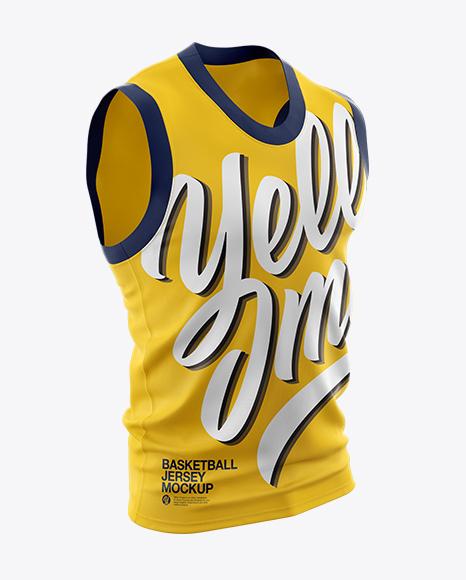 Download Basketball Jersey Mockup - Half Side View Object Mockups