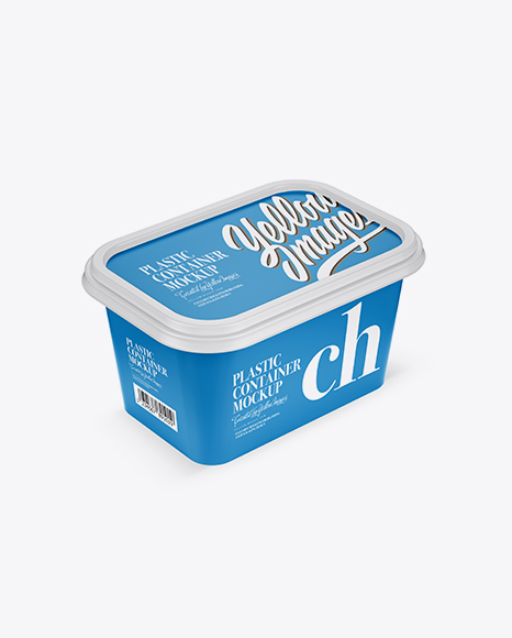 Matte Plastic Container Mockup - Half Side View