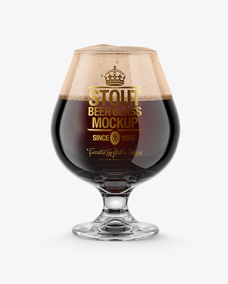 Snifter Glass With Stout Beer Mockup