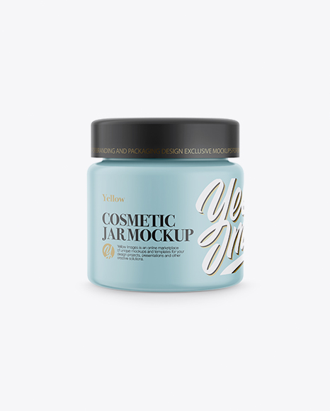 Download Matte Cosmetic Jar Mockup - Front View Object Mockups