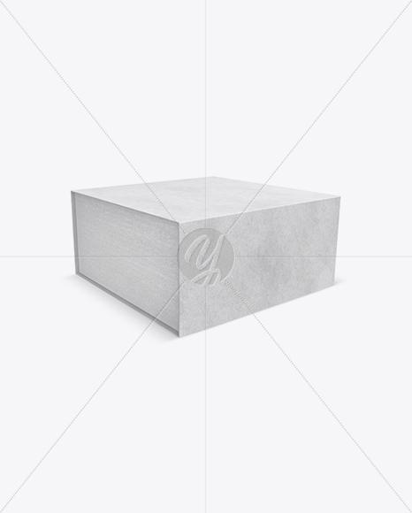 Download Metallic Box Mockup Half Side View High Angle Shot PSD - Free PSD Mockup Templates