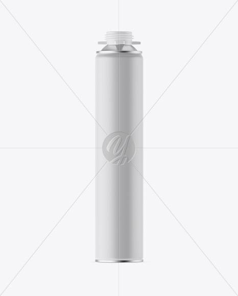 750ml Matte Pu-Foam Tube Mockup