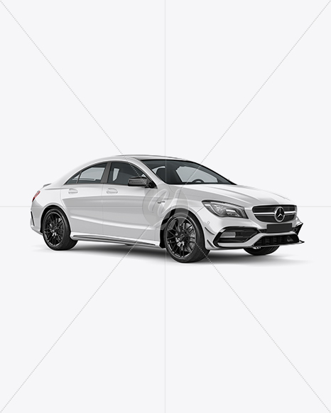 Mercedes CLA 45 AMG Mockup - Half Side View