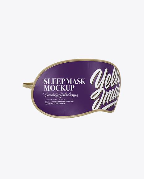 Sleep Mask Mockup - Half Side View in Object Mockups on