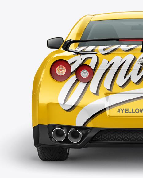 Download Nissan GTR Mockup - Back view Object Mockups