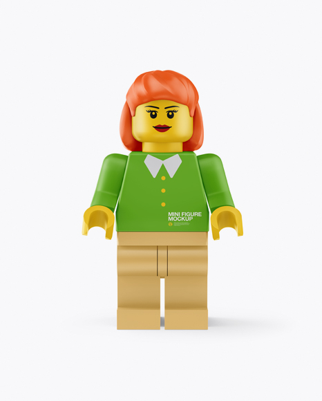 Woman Mini Figure Mockup
