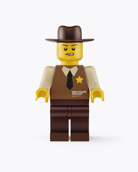Download Sheriff Mini Figure Mockup Object Mockups