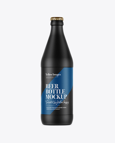 Download Matte Ceramic Beer Bottle Mockup Object Mockups