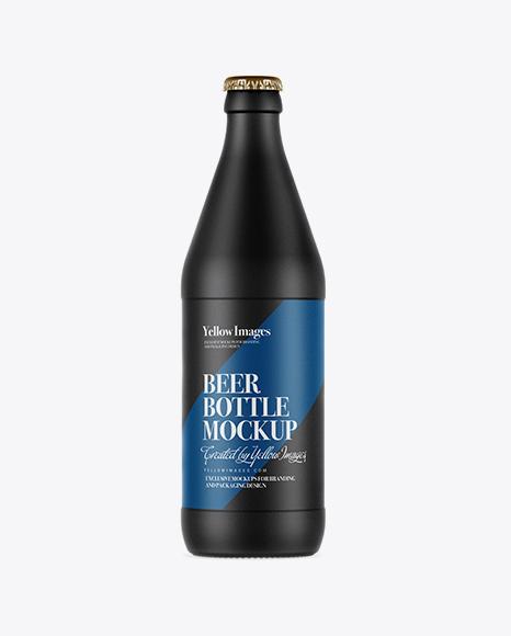 Download Matte Ceramic Beer Bottle Mockup in Bottle Mockups on ... Free Mockups