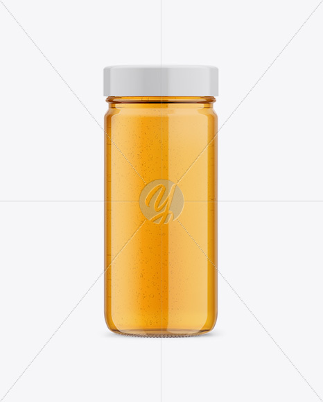 Glass Jar with Honey Mockup