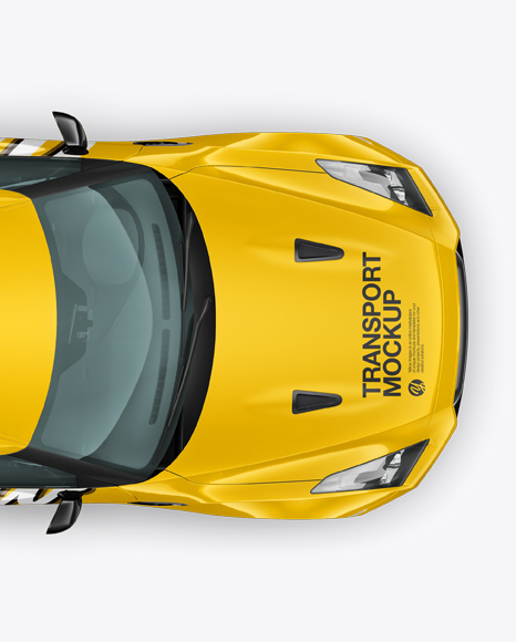 Download Nissan GTR Mockup - Top view Object Mockups