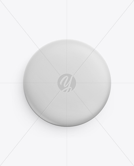 round eraser mockup top view in stationery mockups on yellow