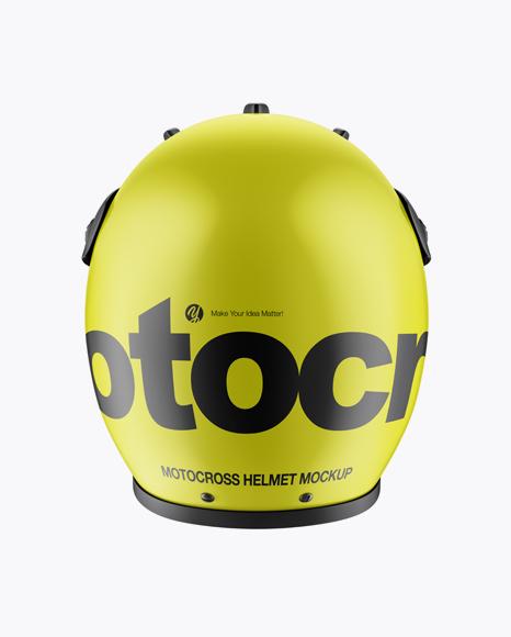 Motocross Helmet Mockup - Back View