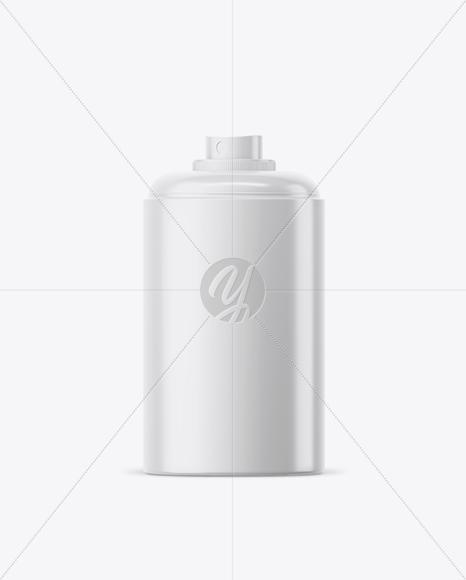 Opened Glossy Spray Bottle Mockup
