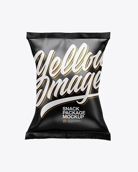 Download Free Matte Snack Package Mockup PSD Template