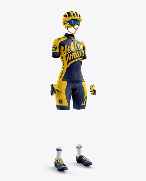 Women's Full Cycling Kit mockup (Hero shot)