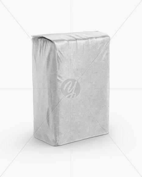 Glossy Kraft Paper Flour Bag Mockup