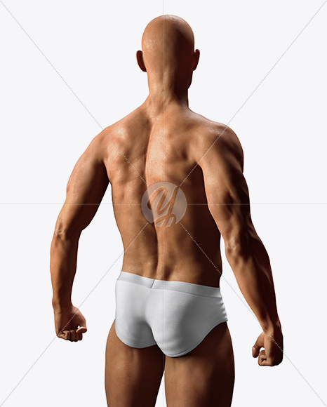 Naked Male Body Mockup In Object Mockups On Yellow Images Object Mockups