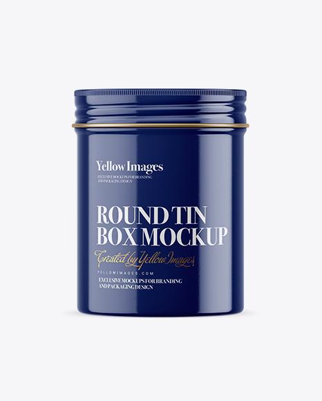 Download Glossy Round Tin Box Mockup Object Mockups