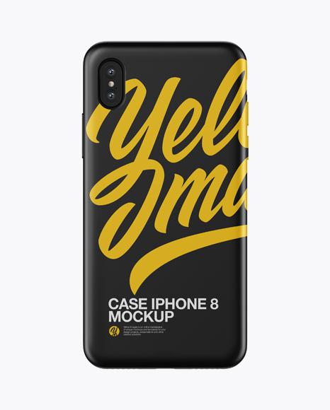 Download iPhone X Matte Case Mockup Object Mockups