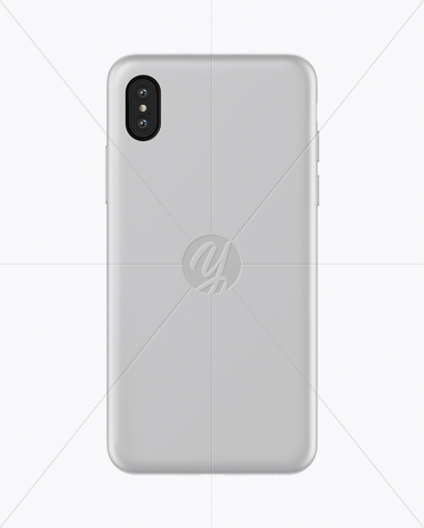Iphone X Matte Case Mockup In Object Mockups On Yellow Images Object Mockups