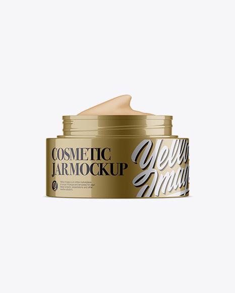 Download Opened Metallic Cosmetic Jar Mockup Object Mockups