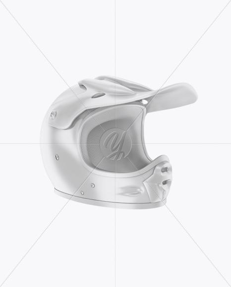 Motocross Helmet Mockup - Half Side View