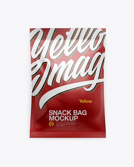 Download Matte Snack Bag Mockup Object Mockups