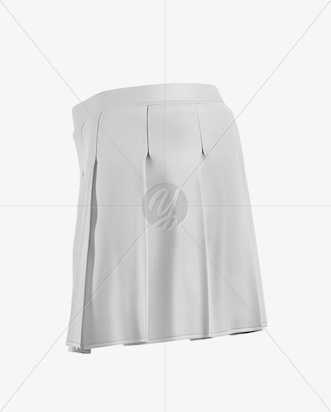 Сheerleader Skirt Mockup - Side View