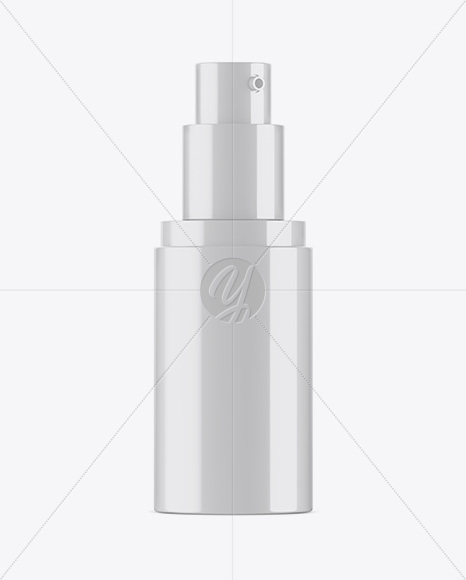 Glossy Cosmetic Spray Bottle Mockup - Half Side View