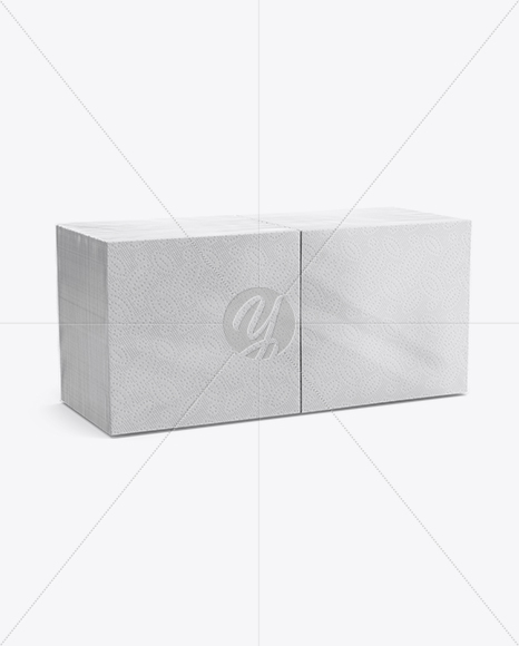 Napkin Pack Mockup - Half Side View