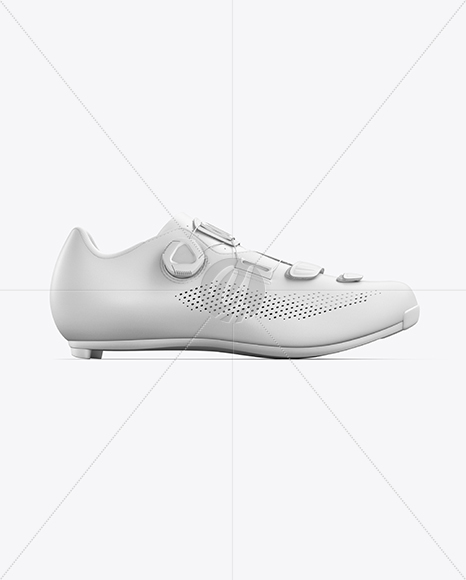 Road Cycling Shoe mockup (Side View)