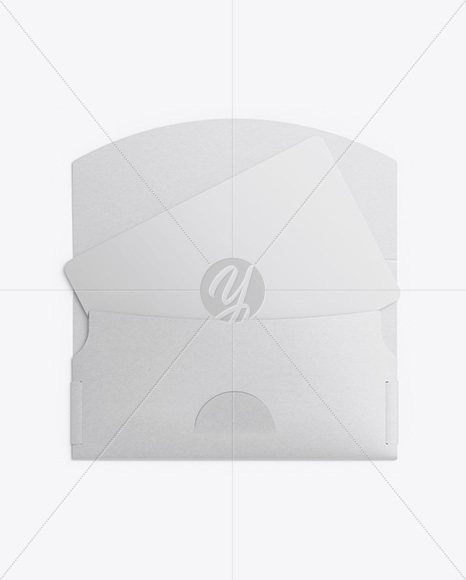 Gift Card in Envelope Mockup - Top View