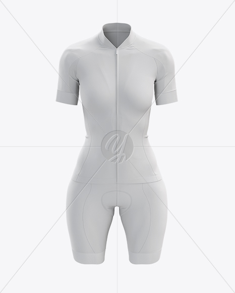 Women's Cycling Kit mockup (Front View)