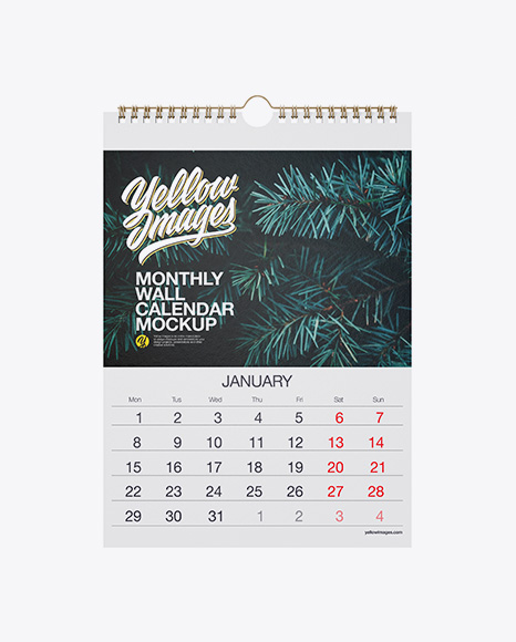 Textured Calendar Mockup
