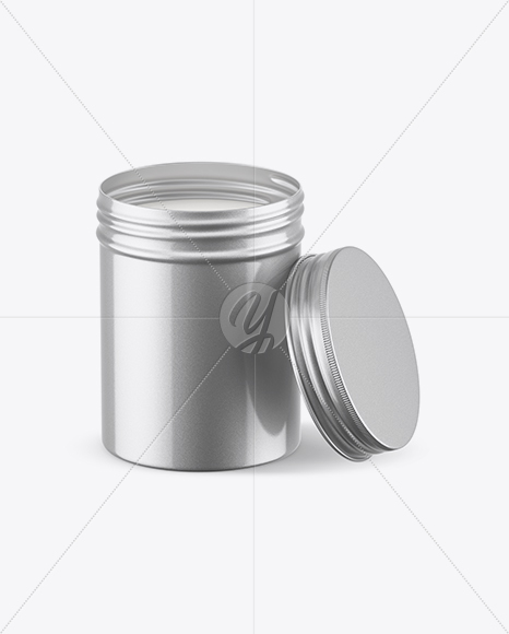 Download Opened Metallic Round Tin Box Mockup In Box Mockups On Yellow Images Object Mockups PSD Mockup Templates