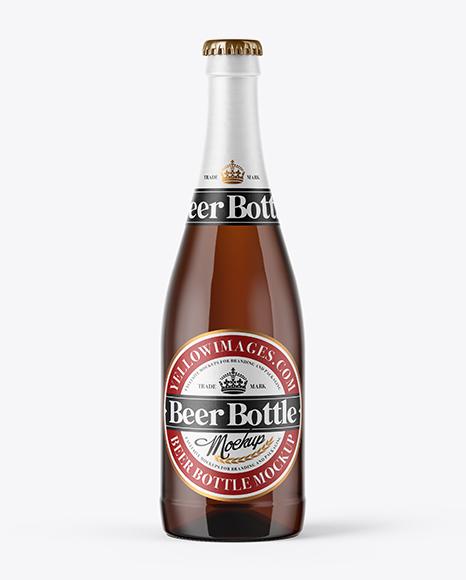 Download 500ml Amber Beer Bottle Mockup Object Mockups