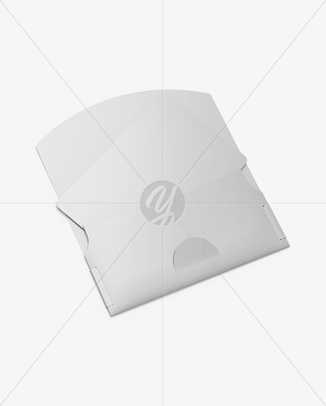 Gift Card in Envelope Mockup - Halfside View